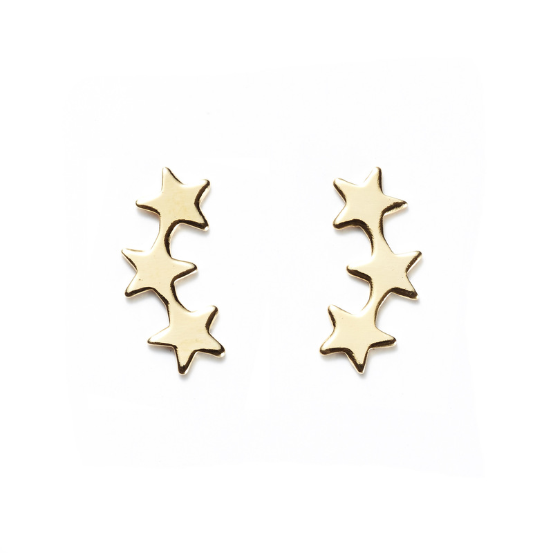 a.v. max Falling Star Ear Crawlers in Gold