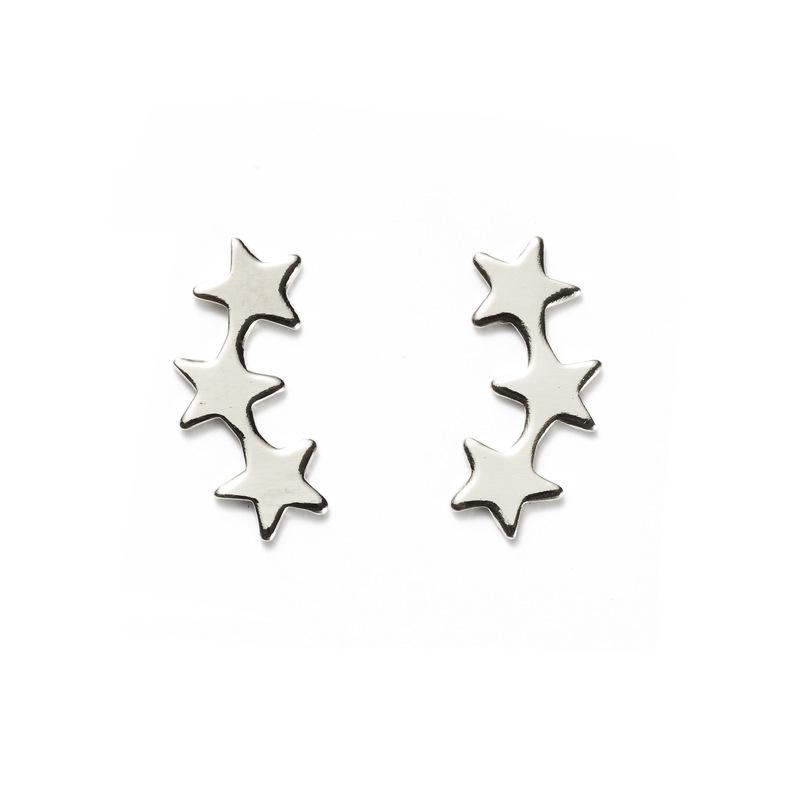 a.v. max Falling Star Ear Crawlers in Silver