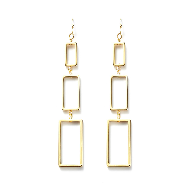 a.v. max Rectangle Dangle Earrings