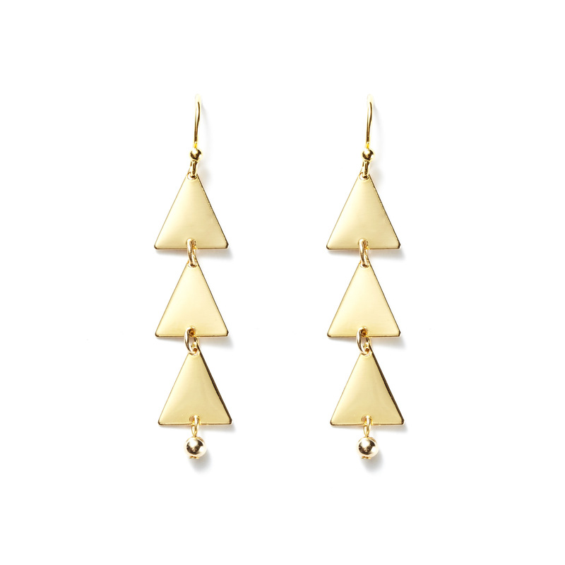 a.v. max Triangle Dangle Earrings