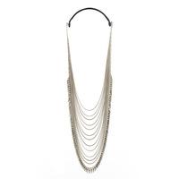 Jenny Bird Palm Cascade Necklace in Silver