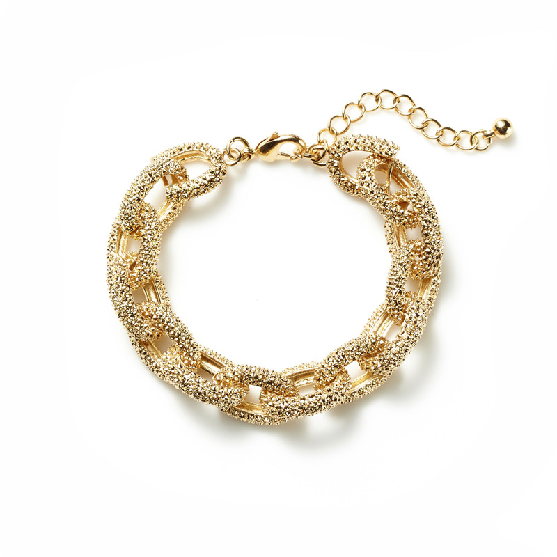 Jill Michael Faceted Gold Chunky Bracelet