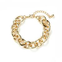 Jill Michael Pounded Gold Chunky Chain Bracelet