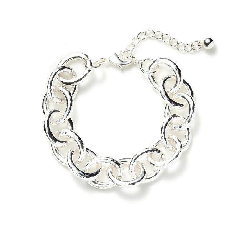 Jill Michael Pounded Silver Chunky Chain Bracelet