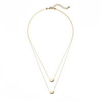 Jill Michael Folded Circle Layer Necklace in Gold