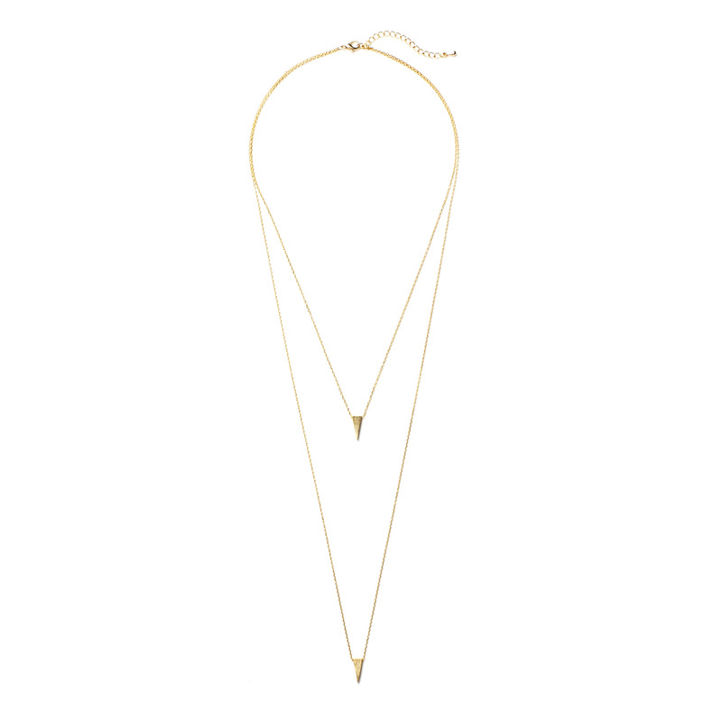 Jill Michael Triangle Layer Necklace in Gold