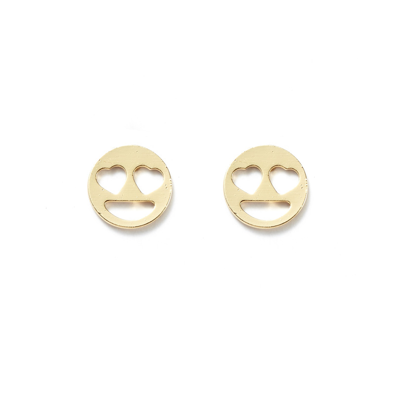 Kris Nations Heart Eyes Studs in Gold