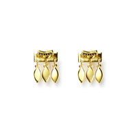 Luv AJ Marquise Dangle Studs in Gold
