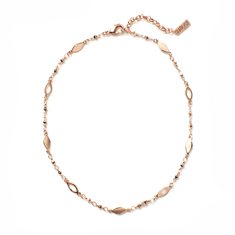 Luv AJ Marquise Link Choker in Rose Gold