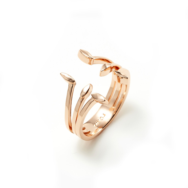 Luv AJ Triple Marquise Stud Ring in Rose Gold