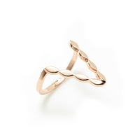 Luv AJ Marquise V Ring in Rose Gold