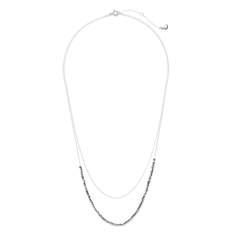 Gorjana Tavia Layered Necklace in Silver