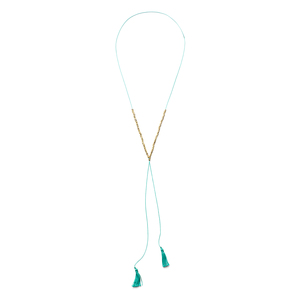 Gorjana Laguna Beaded Necklace in Teal