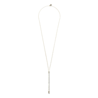 House of Harlow 1960 Age of Antiquity Bar Pendant in Howlite
