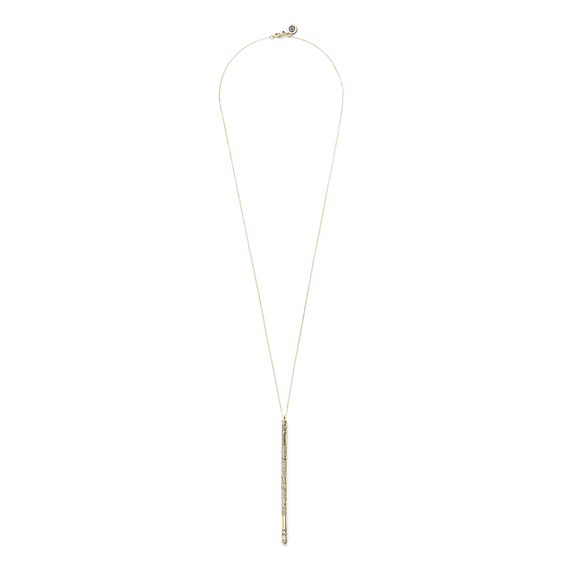 House of Harlow 1960 Atum Pave Bar Necklace