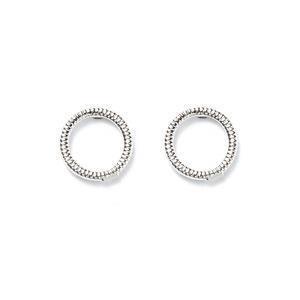 Jill Michael Ring Stud Earrings in Silver