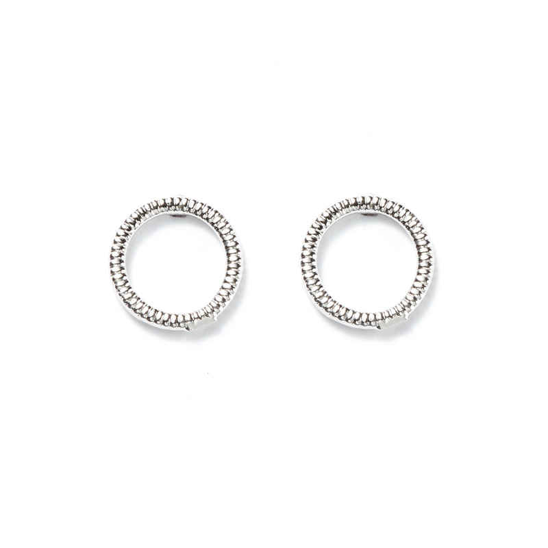 Jill Michael Ring Stud Earrings in Silver