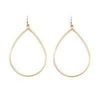 Jill Michael Drop Hoop Earrings in Gold