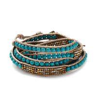 Nakamol Mixed Turquoise & Gold Wrap Bracelet