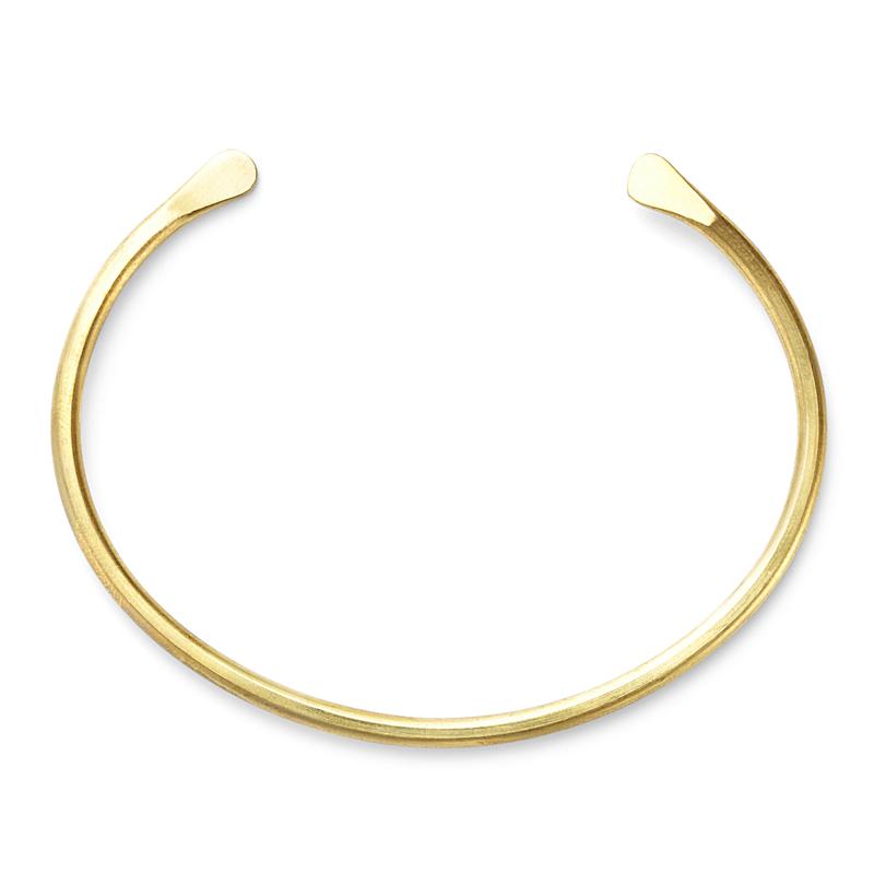 Nashelle Pinch Cuff in Brass