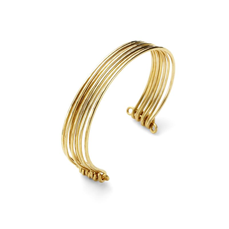 Nashelle Stacked Cuff in Brass