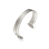 Nashelle Stacked Cuff in Silver