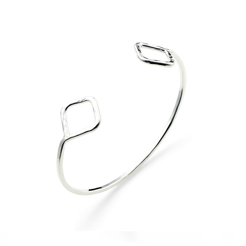 Nashelle Diamond Cuff in Silver