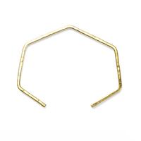 Nashelle Open Heptagon Cuff in Brass