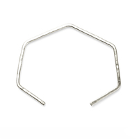 Nashelle Open Heptagon Cuff in Silver