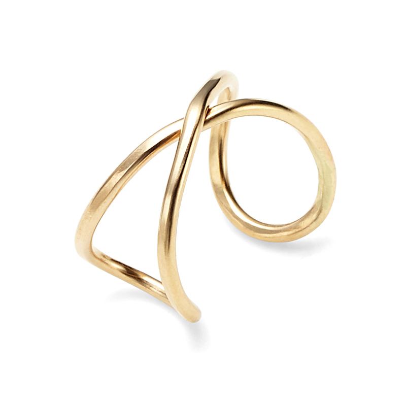 Nashelle Infinity X Ring in Gold