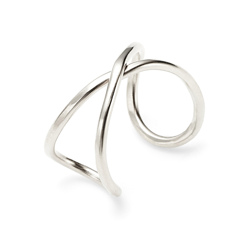 Nashelle Infinity X Ring in Silver