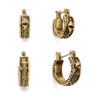 House of Harlow 1960 Dakota Huggie Hoop Earring Set in Gold