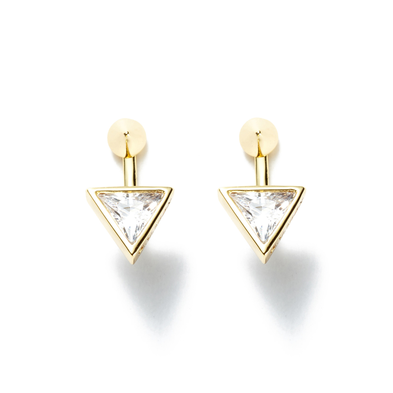 a.v. max Triangle Ear Jacket in Gold