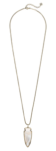 Kendra Scott Kimmy Necklace in White Banded Agate