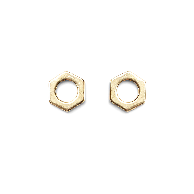a.v. max Bolt Earrings in Gold