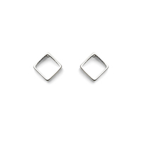 a.v. max Small Diamond Earrings in Silver