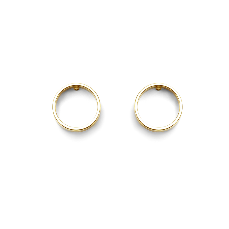 a.v. max Small Circle Earrings in Gold