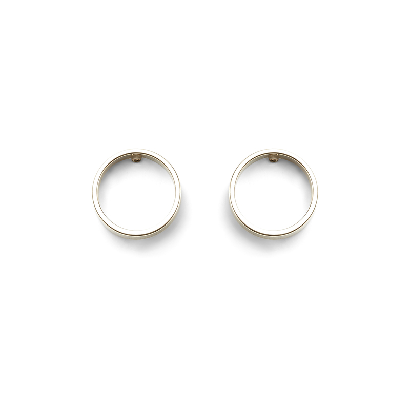 a.v. max Small Circle Earrings in Silver