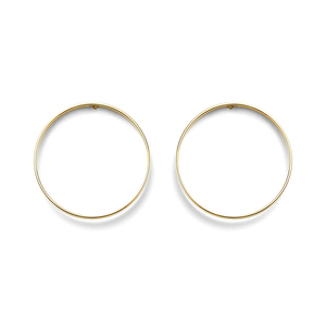 a.v. max Large Circle Earrings in Gold