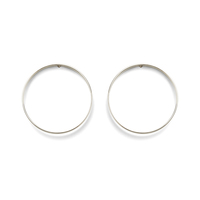 a.v. max Large Circle Earrings in Silver