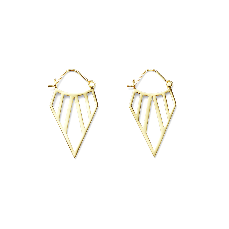 a.v. max Tribal Hoop Earrings in Gold