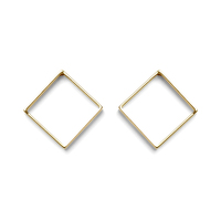 a.v. max Large Diamond Earrings in Gold