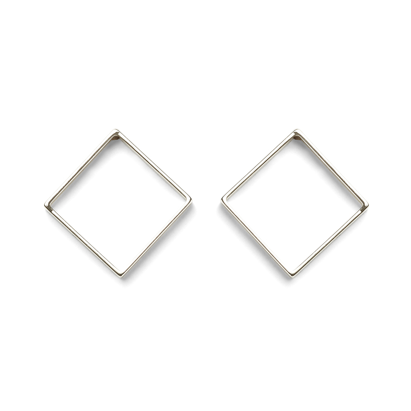 a.v. max Large Diamond Earrings in Silver