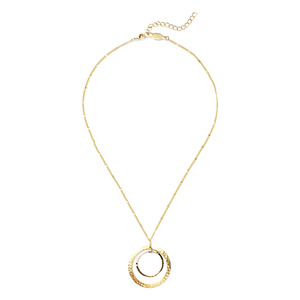 a.v. max Concentric Circles Necklace in Gold