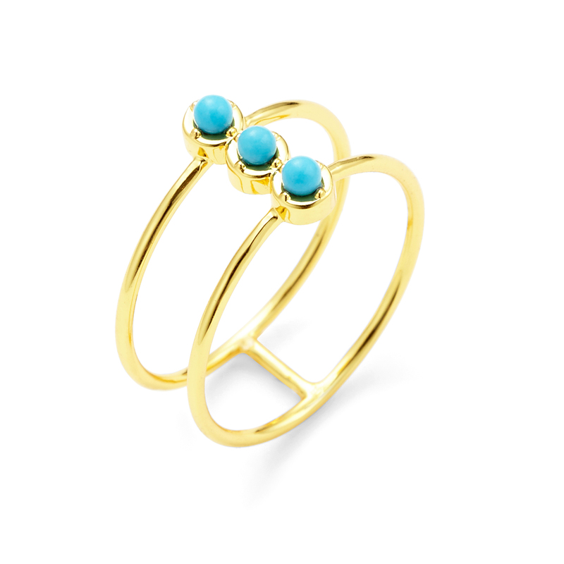 Gorjana Mirrah Double Bar Ring