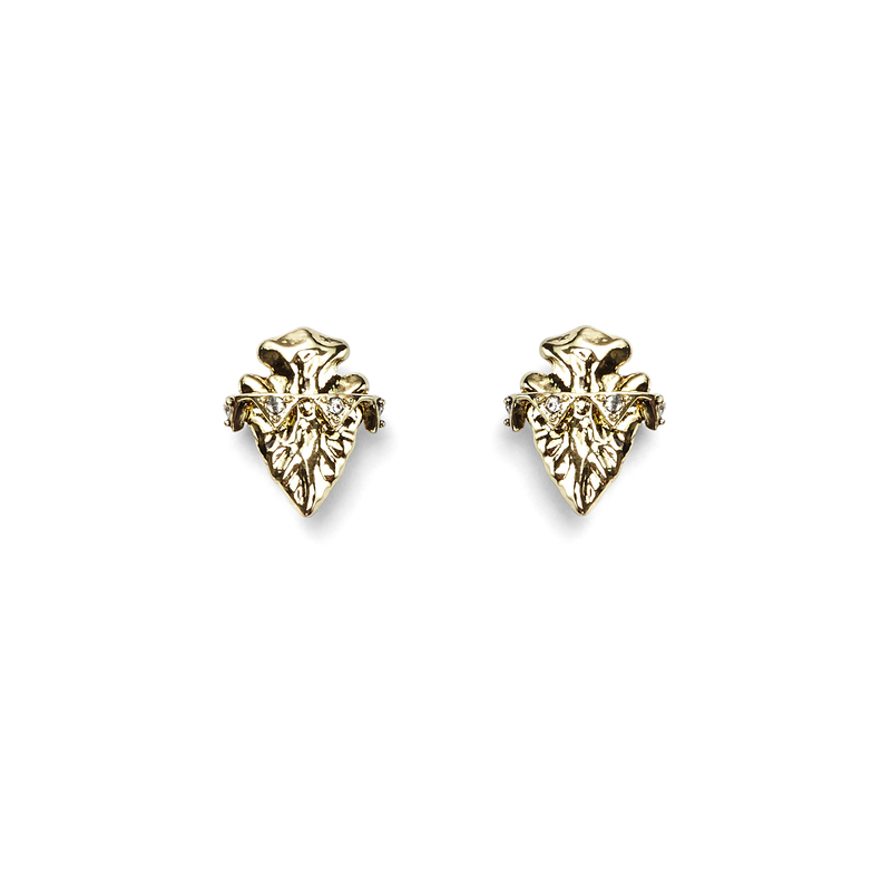 House of Harlow 1960 Mohave Stud Earrings in Gold