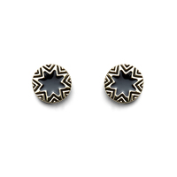 House of Harlow 1960 Mini Sunburst Earrings in Black