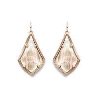 Kendra Scott Alex Earrings in Rose Gold Brown Pearl