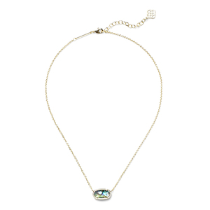 Kendra Scott Elisa Necklace in Gold Abalone
