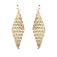 Jules Smith Mesh Wave Earrings in Gold